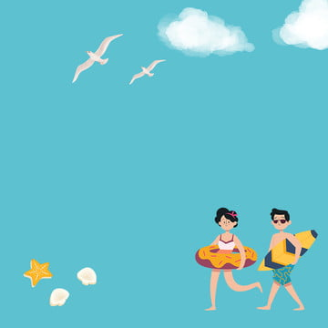 Blue cartoon clouds summer Clouds Summer Illustration Imagem Do Plano De Fundo