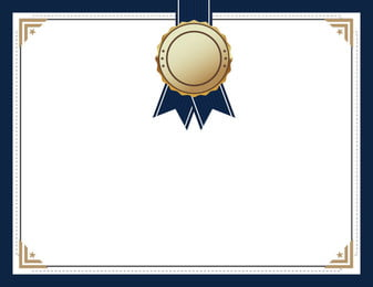 blue medal medal certificate , Education, Certificate, Certificate Background Фоновый рисунок