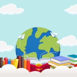 cartoon anthropomorphic book world , Cartoon, Day, World Map Imagem de fundo