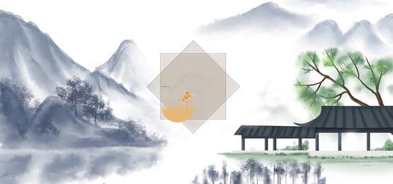 chinese style chinese painting ancient architecture life, Ancient Architecture, Commemoration, History Hintergrundbild