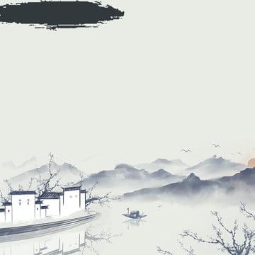 中国風の背景 エレガントな背景 エレガントな背景 ブラシ , 淘宝網, 中国風の背景, インク 背景画像