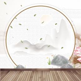 中国風の背景 飾りの背景 木の板 石 , 木の板, 電車の中, 中国風の背景 背景画像
