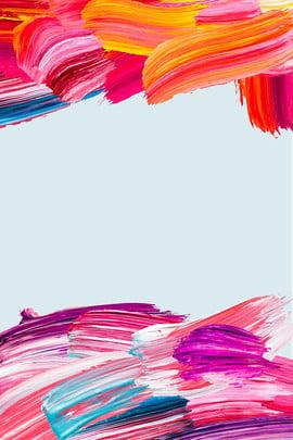 カラー ブラシストローク 油絵 ジオメトリ , 美術クラスの登録, カラーテクスチャオイルブラシタッチアートクラス登録ポスターの背景, ジオメトリ 背景画像