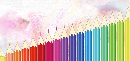 Color pencil stationery PPT Color Colored Pencil Imagem Do Plano De Fundo