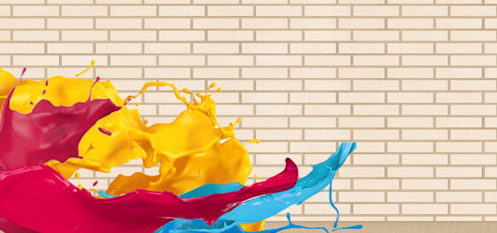 Colorful paint poster background Colorful Poster Home Фоновое изображение
