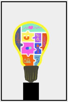 創意 創新 燈泡 點子 , 互聯網, 科技, 思想 背景圖片