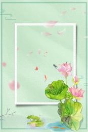 elegant ink lotus lotus , Spring, Chinese Style Background, Ink Фоновый рисунок