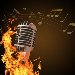 fiery music microphone ppt , Music, Ppt, Music Background Фоновый рисунок