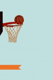 flat hand drawn cartoon basketball ball game passion ball frame background material , Flat, Hand Drawn, Cartoon Background image
