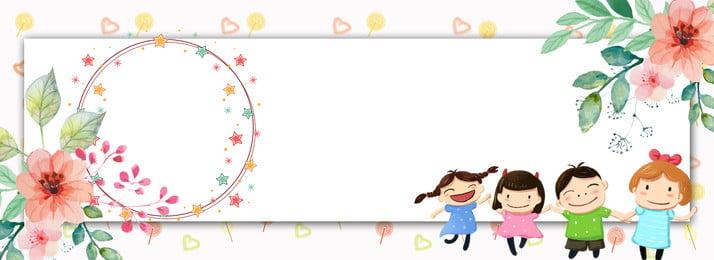 fresh flower border baby album poster background template, Fresh, Children S Desk Calendar, Baby Photo Album Background image
