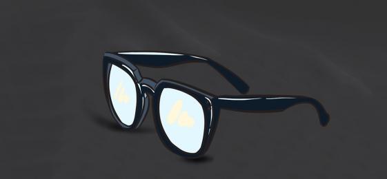 Glasses Myopia Glasses Atmosphere Black Poster Background, Glasses, Myopia Glasses, Atmosphere, Background image