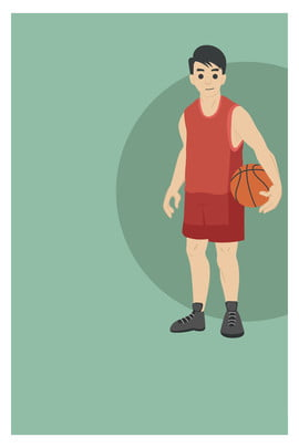 hand drawn cartoon basketball ball game player poster background material , Hand Drawn, Cartoon, Basketball Background image