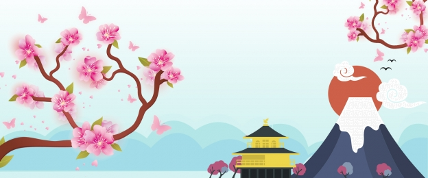 桜祭り 日本ツアー さくら 折りたたみ傘 日本ツアー 漫画 桜祭り 背景画像