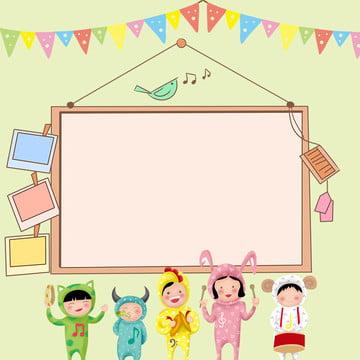 幼稚園 漫画 登録 かわいい , 背景, ポスター, 登録 背景画像