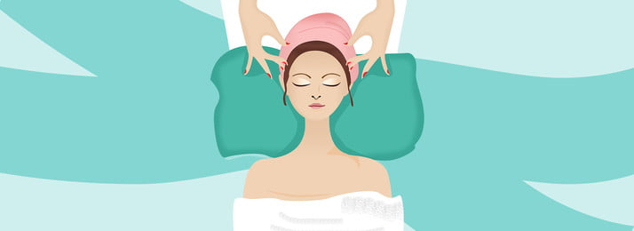 korean cute beauty salon advertising details page vector background material, Fresh, Korean Background, Beauty Background Background image