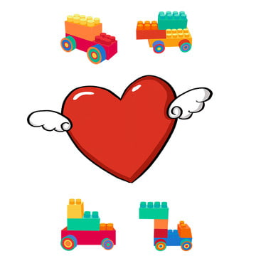 love building blocks cartoon background , Flat, Building, Mutual Aid Imagem de fundo