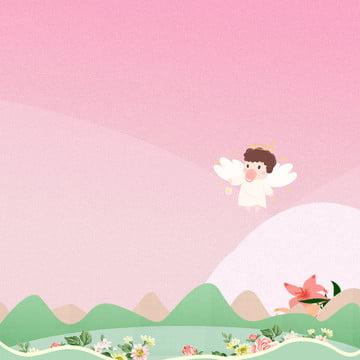 خلفية وردية خلفية رسوم متحركة رسوم متحركة وردية خلفية للأم والطفل , خلفية للأم والطفل, الكرتون, رسوم متحركة وردية صور الخلفية