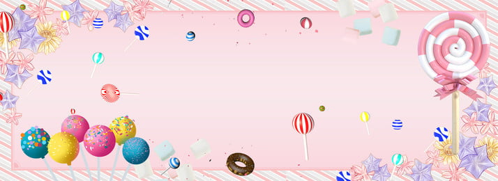 pink sweet banner poster, Pink Background, White Flower, Poster Фоновый рисунок