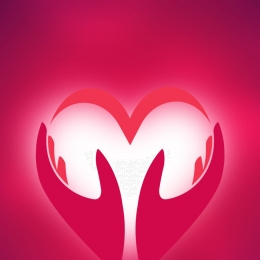 pink three dimensional love vector background material , Pink, Three-dimensional, Love Background image