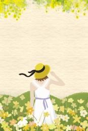 rape flower festival poster background spring , Template, Rape Flower Festival, Tourism ภาพพื้นหลัง