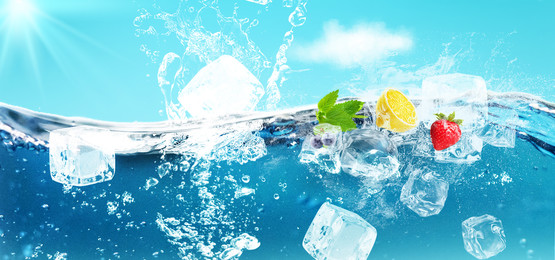 Refreshing Summer Ice Drink Poster Background Material, Refreshing, Summer, Ice Drink Poster, Background image