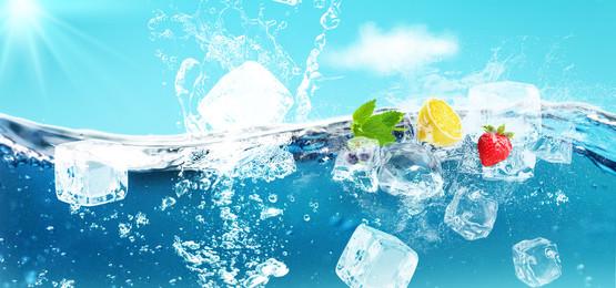 làm mới mùa hè áp phích uống nước đá màu xanh lá cây, áp Phích Uống Nước đá, Màu Xanh Lá Cây, Nước Ảnh nền