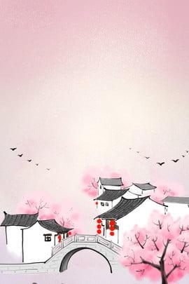 sansheng iii शिली पीच ब्लॉसम ड्रीम लैंडस्केप बैकग्राउंड , Sansheng, ड्रीम, Sansheng Iii शिली पीच ब्लॉसम पृष्ठभूमि छवि
