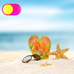 small fresh beach slippers beach shoes , Sunscreen, Material, Master Фоновый рисунок