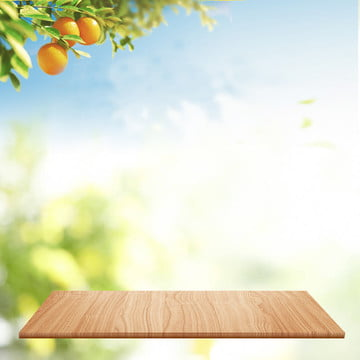 small fresh wooden board psd layered main picture background material , Small Fresh, Wooden Board, Green Background image