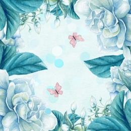 春 春 花 緑 , 春, 春の花蝶屋外の小さな新鮮な化粧品マスターイラスト背景, 小さな新鮮な化粧品 背景画像