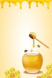 लाठी मधुमक्खियों शहद कीड़े , खाद्य पोस्टर, पोस्टर, भोजन पृष्ठभूमि छवि