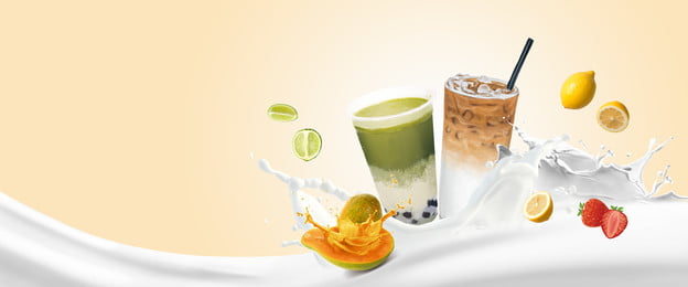 summer juice fresh tea, Poster Background, Fruit, Milk Фоновый рисунок