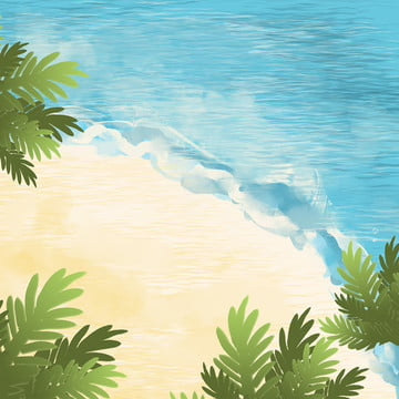 summer small fresh beach psd layered master map background material , Summer, Small Fresh, Sunshine Background image