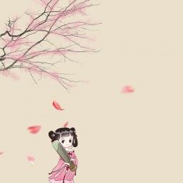 sansheng iii shili peach blossom white shallow peach blossom main picture , Shili, Văn Học, White Shallow Ảnh nền
