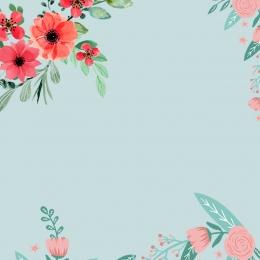 藤蔓 邊花 花朵 簡約 , 藤蔓邊花花朵簡約清新文藝唯美主圖, 背景圖, 邊花 背景圖片