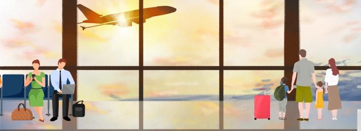 飛行機 フライト 空港 フライト, 事業の背景, 航空機事業の背景デザイン, 輸送 背景画像