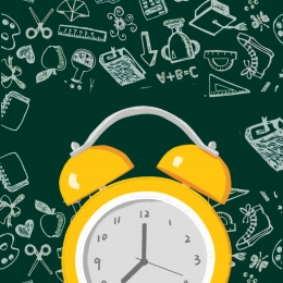 創造的な目覚まし時計 学校のポスターに戻る 目覚まし時計 時計 , 黒板, ポスター, アップル 背景画像