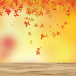 Autumn leaves art wooden boards real scenery Wood Real Scenery Фоновое изображение