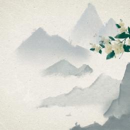 azure ink landscape jasmine , Creative Background, Corner, Ink Imagem de fundo