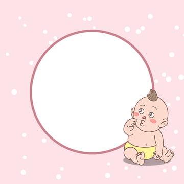 baby cartoon fantasy border , Simple, Fantasy, Dreamy Фоновый рисунок