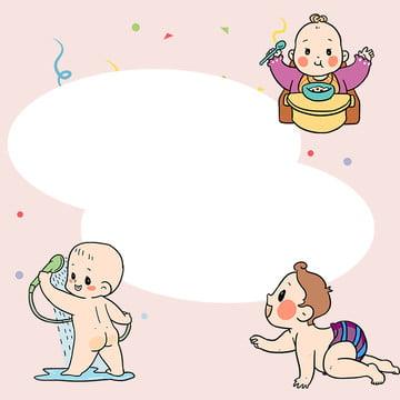 baby cartoon fantasy border , Mother, Cartoon, Border Фоновый рисунок