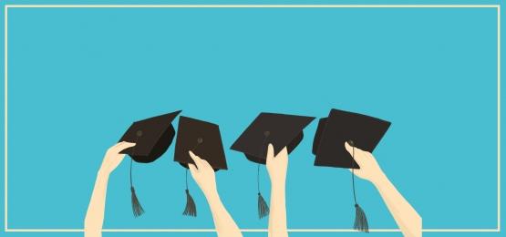 Bachelor Blue Succinct Graduation Job Search, Job Hunting, Fresh Graduate Job Hunting, Job Search Resume, Background image