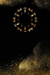 black gold atmospheric golden gradient texture poster , Black Gold, Atmosphere, Gold Background image