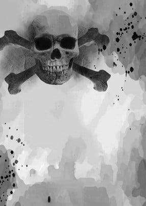 खोपड़ी काला सफेद कंकाल हेलोवीन , हॉरर, हॉरर, काले पृष्ठभूमि छवि