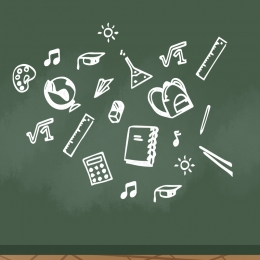 blackboard student supplies main picture , Blackboard, Ruler, Main Imagem de fundo