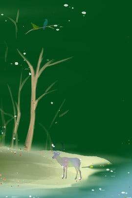blue dreamy firefly forest , Dreamy, Blue, Firefly ภาพพื้นหลัง