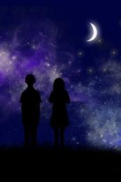 blue midsummer night dream poster background template , Background Template, Dream, Blue Фоновый рисунок