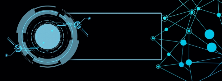 Blue technology geometric lines business Blue Geometric Simple Фоновое изображение