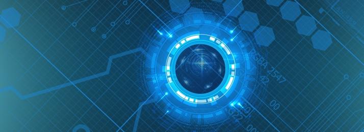 नीला प्रौद्योगिकी भविष्य वायुमंडलीय बैनर, प्रौद्योगिकी, ब्लू, व्यवसाय पृष्ठभूमि छवि