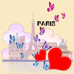 butterfly paris love i love you , Dream, I Love You, Butterfly Hintergrundbild